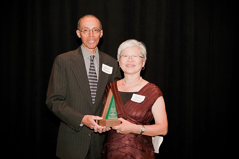 "Bill & Jackie Accepting ICF's ""Friend of the Foundation Award"""