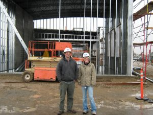 Rob Holtz, Project Superintendent and Erin Holobing